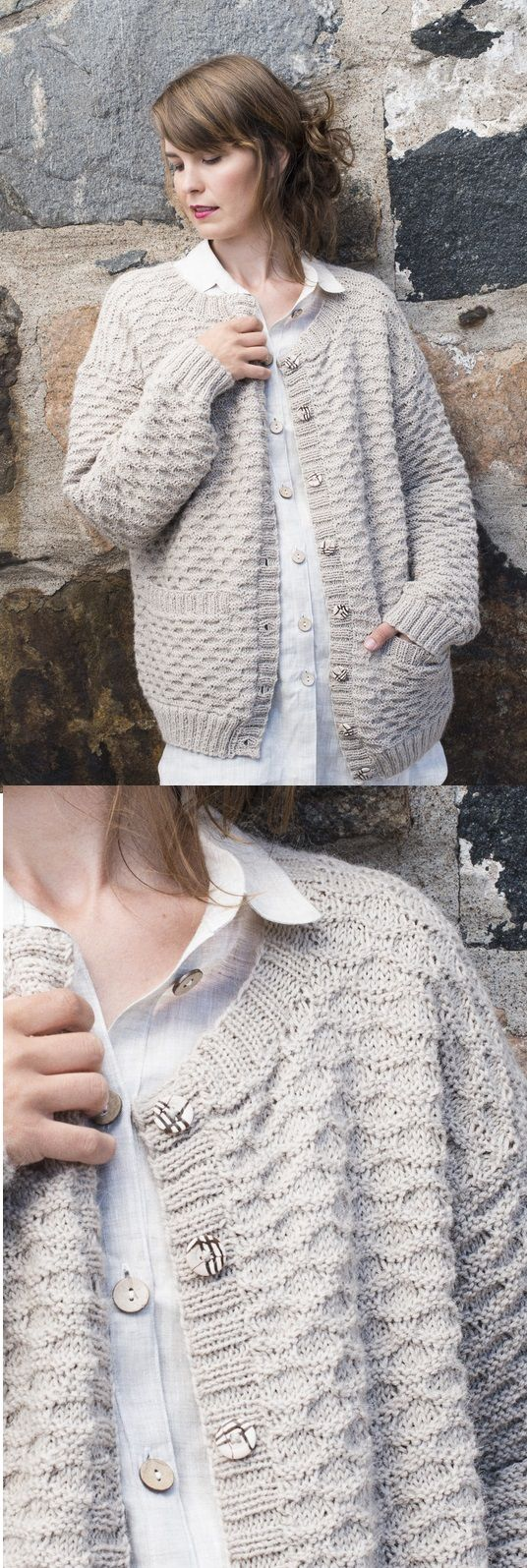 Free knitting pattern for a textured knitted jacket for women | Knitting Patterns