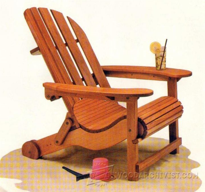 Adirondack folding chair plans – Outdoor furniture | WoodWorking