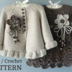Knitting PATTERN Baby jacket Crochet dress Baby dress Baby Knitted cardigan | Knitting Patterns