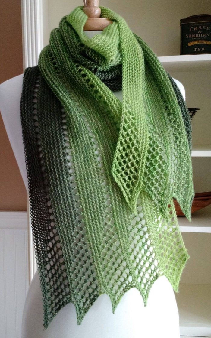Lace Scarf Mistral PDF Weave Pattern Scarf gradient gradient-inspired lace scarf French wrap theft pattern easy without graphics | Knitting Patterns