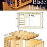 Saw blade holder plans: table saw tips, templates | WoodWorking