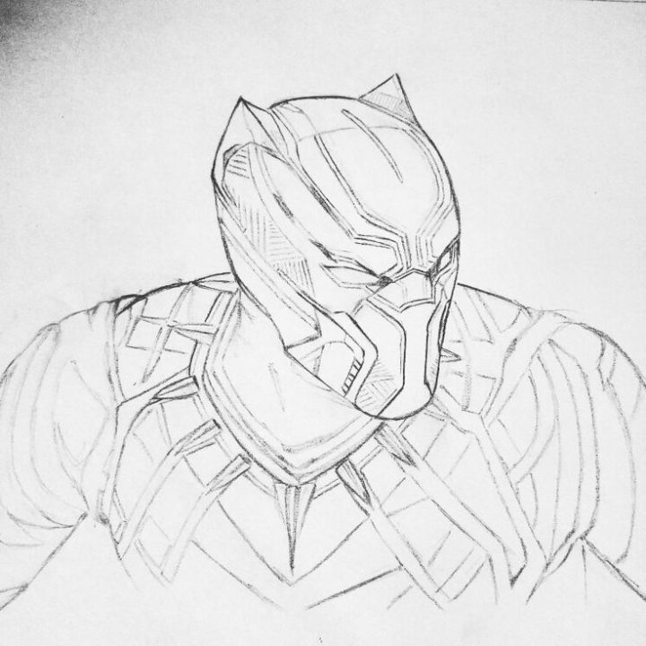 SKETCH OF THE BLACK PANTHER | Marvel Comics