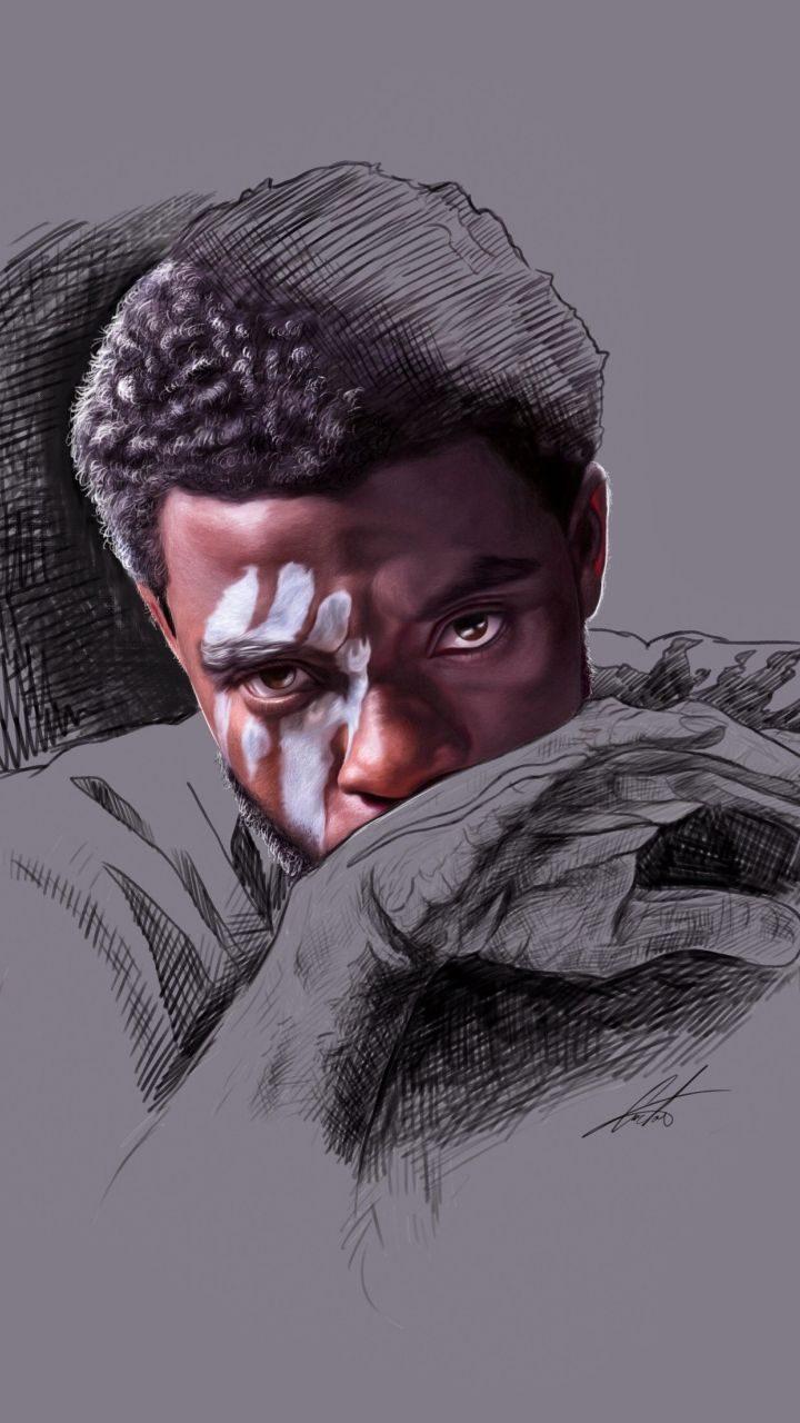 BLACK PANTHER, CHADWICK BOSEMAN, MINIMAL, ARTWORK | Marvel Comics